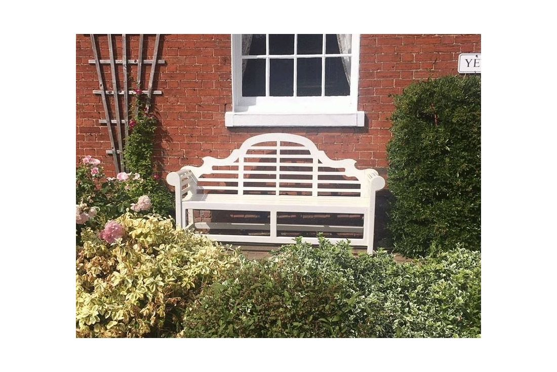Lutyens bench painted - 150cm