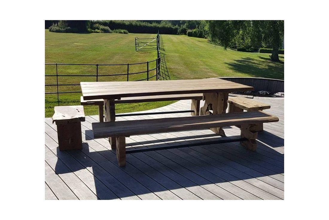 Nature Teak Bench Set 3m