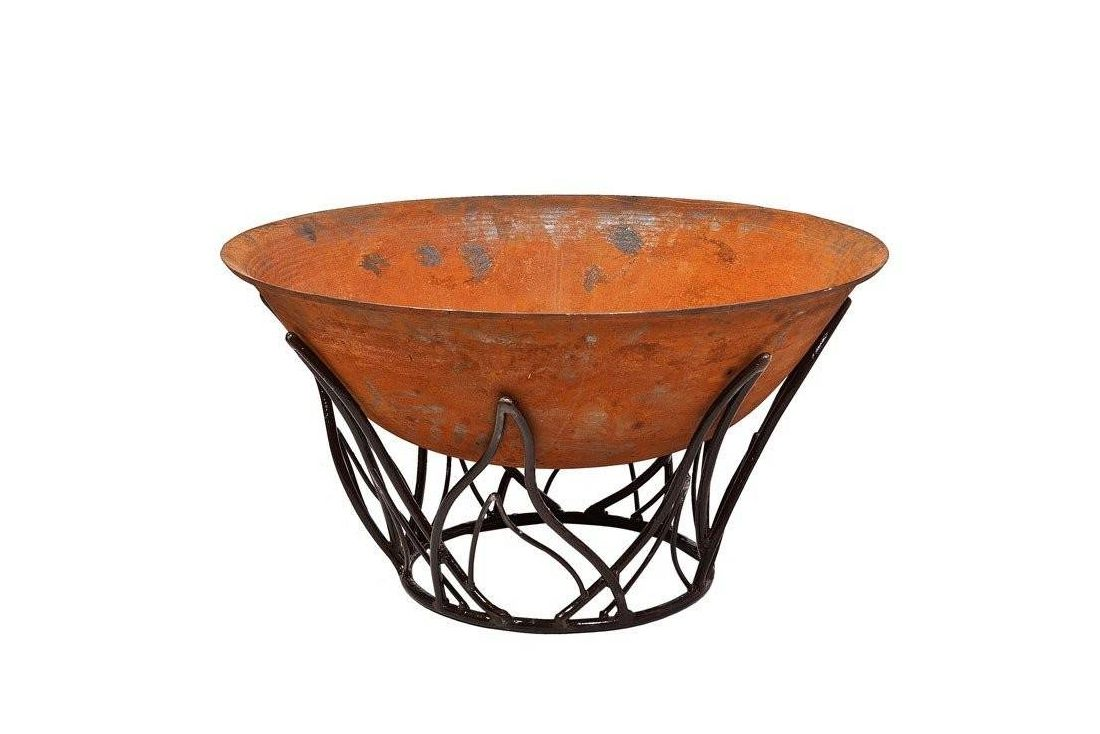 Cast Iron Fire Bowl 80cm with Blaze Stand