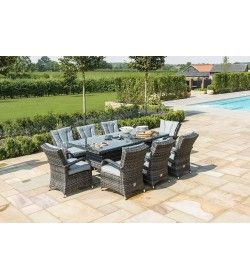 Texas 8 seater Rectangular Dining Set