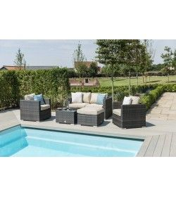 Georgia 2 Seat Sofa Set with Ice Bucket