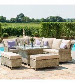 Winchester Royal Corner Dining Sofa Set - Rising Table