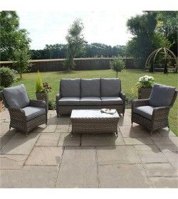 Victoria 3 Seater High Back Sofa Set