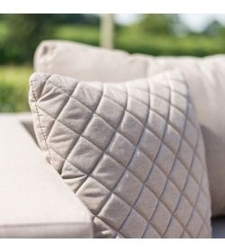 4 Scatter Cushions Quilted - Taupe