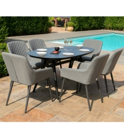 Zest 6 Seat Oval Dining Set