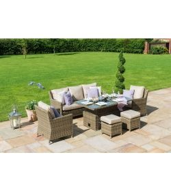 Winchester Sofa Dining Set with Ice Bucket and Rising Table