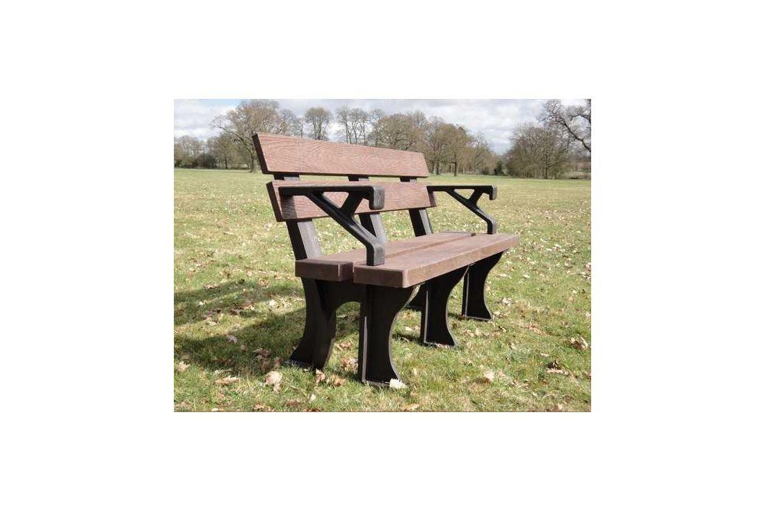 Eco park bench arms 1.3m