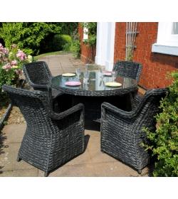 Midnight Montana 4 Chair Dining Set