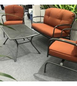 Milan Steel Lounge Set