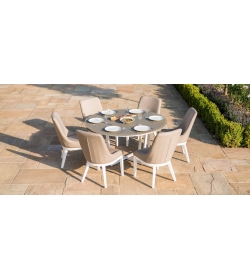 Pacific 6 Seat Round Dining