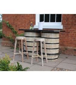 Double Barrel Bar Counter