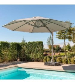 Cantilever Parasol 3.5m Round Rotating With LED Lights