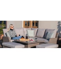 Harrogate Corner Dining Sofa Set Rising Table