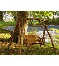 Oak Garden Swing Seat 2