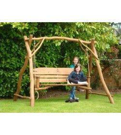 Oak Garden Swing Seat 3