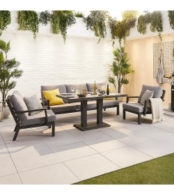 Vogue 3 Seater Sofa Set with Rising Table