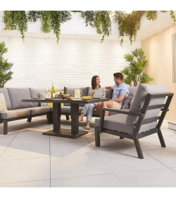 Vogue Corner Sofa Set with Rising Table & Armchair