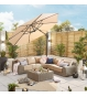 Galaxy 3.5m Round Cantilever Parasol with LED Lights