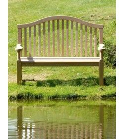Serpentine garden bench