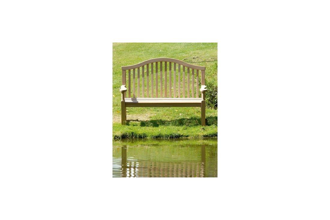 Serpentine garden bench