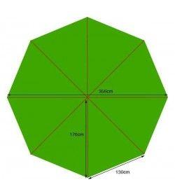 Parasol canopy - 350cm diameter 8 pockets