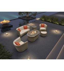 St. Tropez 6 Piece Suite With Firepit