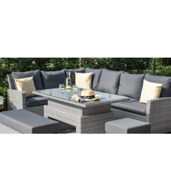 Ascot Corner Dining Sofa Set Rising Table
