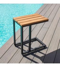 Oslo Teak U Shaped Side Table