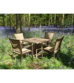Leaf 4 seater square table set