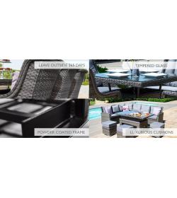 Victoria 6 Seater Rectangular Dining Set