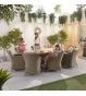 Camilla 8 Seat Oval Dining Set  Firepit