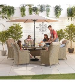 Thalia 6 Seat Oval Dining Set