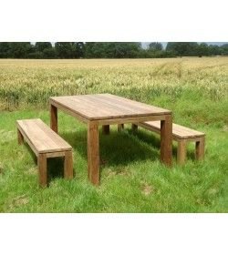 Bali Reclaimed Teak Bench Set