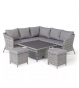 Santorini Square Corner Dining Set - With Rising Table