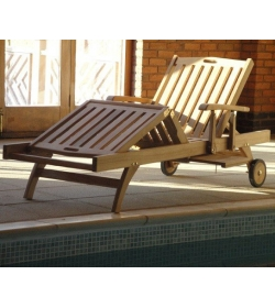Stratford sun lounger With drinks tray