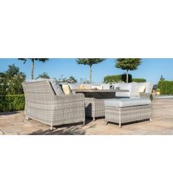 Oxford Royal U Shaped Sofa Set - With Rising Table