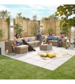 Chelsea 3A Rattan Corner Sofa Set