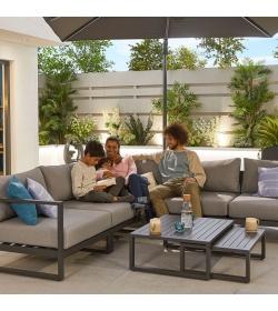 Alessandria Aluminium Corner Sofa Set