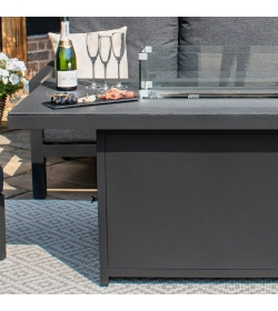 Aluminium Fire Pit Dining Table
