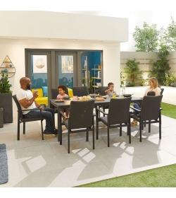 Hugo Outdoor Fabric 8 Seat Rectangular Dining Set