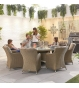 Camilla 8 Seat Dining Set - 1.8m Round Table