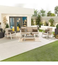 Enna Aluminium Reclining 3 Seat Sofa Set