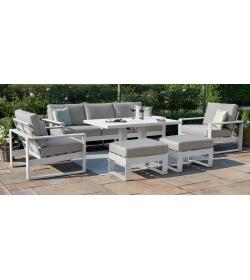Amalfi 3 Seat Sofa Set with Rising Table