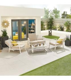 Enna Aluminium Reclining 2 Seat Sofa Set