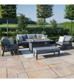 New York 3 Seat Sofa Set - With Firepit Table