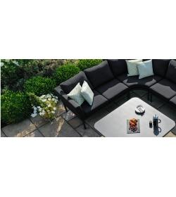 Fabric Pulse U Shape Corner Dining Set - With Rising Table