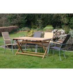 Campden 4 Folding Table Set