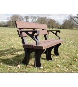 Eco park bench arms 1.5m
