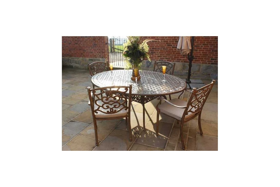 Casino Oval table & 4 chairs Set