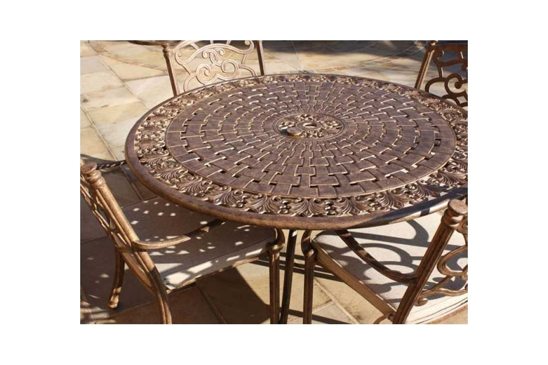 Casino 4 seater round table & chairs Set